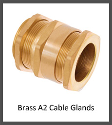 A2 brass cable glands